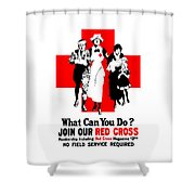 Join Our Red Cross Shower Curtain