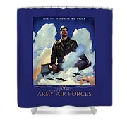 Join The Army Air Forces Shower Curtain