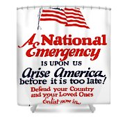 Arise America Before It Is Too Late - Join The Navy Shower Curtain
