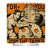 Join The Tanks Shower Curtain