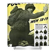 Join The Us Army - Follow Me Shower Curtain