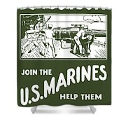 Join The Us Marines Shower Curtain