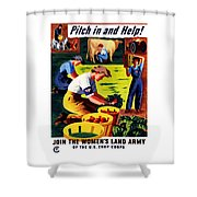 Join The Women's Land Army Shower Curtain
