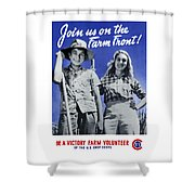 Join Us On The Farm Front Shower Curtain