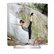 Join Yoga Teacher Training In Chandra Yoga International School. Shower Curtain