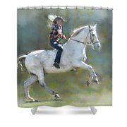Joker And The Ranch Hand Shower Curtain