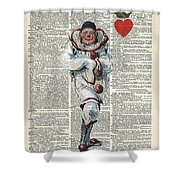 Joker From Playing Cards Shower Curtain