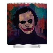 Joker Heath Ledger The Dark Knight Shower Curtain