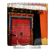Jokhang Temple Door Lhasa  Tibet Artmif.lv Shower Curtain