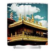 Jokhang Temple Fragment  Lhasa Tibet Artmif.lv Shower Curtain