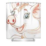 Jolly Miss Piggy Shower Curtain