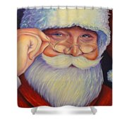 Jolly Old Saint Nick Shower Curtain