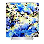 Jolly Winter Blues Shower Curtain