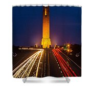 Jones Beach Pencil Light Trails Shower Curtain