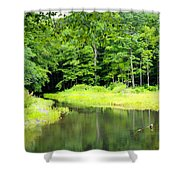 Jones Mill Run Creek Shower Curtain