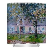 Jonkerhshuis At Groot Constantia Shower Curtain