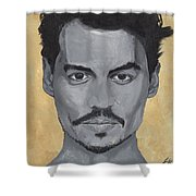 Jonny Depp  Shower Curtain