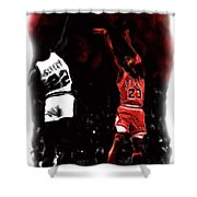 Jordan Over Salley Shower Curtain