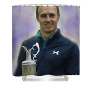 Jordan Spieth Shower Curtain