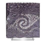 Jornada Mogollon Petroglyph, 5000 Bc- Shower Curtain