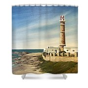 Jose Ignacio Lighthouse Evening Shower Curtain