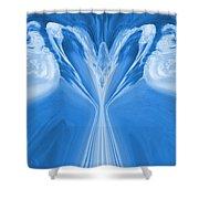 Josea - Blue Shower Curtain