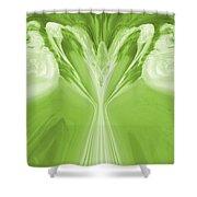 Josea - Green Shower Curtain