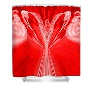 Josea - Red Shower Curtain