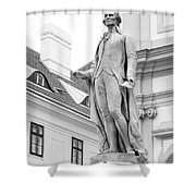 Josef Haydn In Black And White Shower Curtain