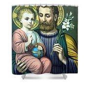 Joseph And Baby Jesus Shower Curtain