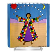 Joseph And His Coat Of Many Colours Shower Curtain