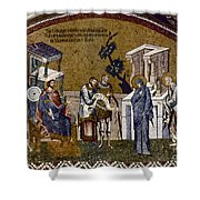 Joseph And Mary Shower Curtain by Granger