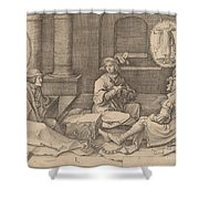 Joseph Interprets The Dreams In Prison Shower Curtain