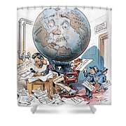 Joseph Pulitzer Cartoon Shower Curtain