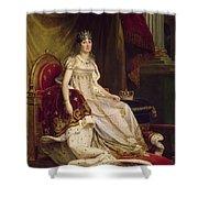 Josephine In Coronation Costume Shower Curtain