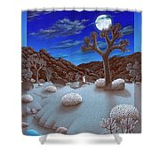 Joshua Tree At Night Shower Curtain