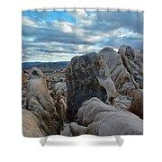 Joshua Tree Boulder Sky Shower Curtain