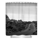 Joshua Tree Landscape Shower Curtain