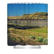 Joso High Bridge Over The Snake River Wa 1x2 Ratio Dsc043632415 Shower Curtain