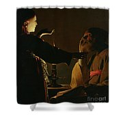 Jospeh And The Angel Shower Curtain