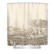 Journee Du 16 Octobre 1793, La Morte De Marie-antoinette Shower Curtain