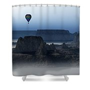 Journey Into The Wastelands Shower Curtain