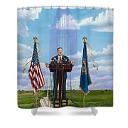 Journey Of A Governor Dave Heineman Shower Curtain
