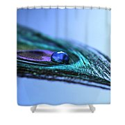 Journey Of Blue Shower Curtain