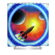 Journey To The Future  Shower Curtain
