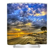 Journey To The Sunset Shower Curtain