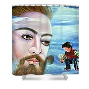 Journey With Jesus Shower Curtain