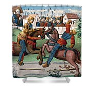 Jousting Knights, 1499 Shower Curtain