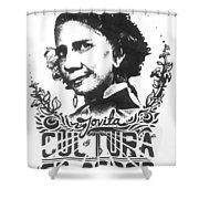 Jovita Cultura Es Poder Shower Curtain