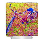 Joy, The Bike Ride Shower Curtain
